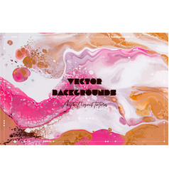 Fluid art texture background with abstract vector