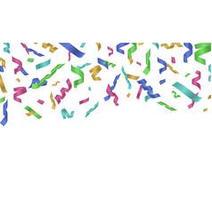 flying confetti ribbon colorful ribbons falling vector image