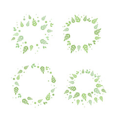 frames with leaves set vector image