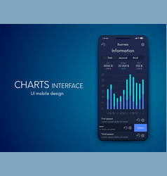 graphics mobile infographics with two vector image