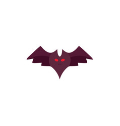 halloween bat in cartoon style isolated vector image