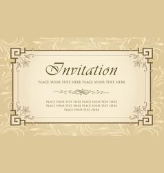 Invitation card design - vintage style vector