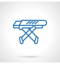 Ironing board blue line icon vector