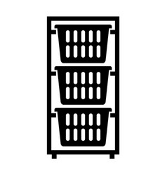 Laundry basket dresser vector
