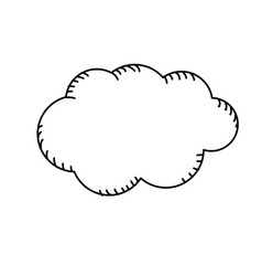 Line natural cloud and cloudy weather vector