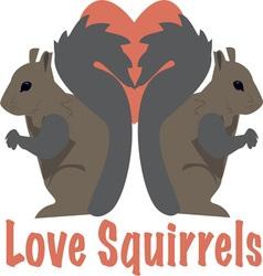 Love Squirrels vector