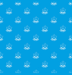 meat house eco pattern seamless blue vector image