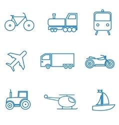 mode transport vector image