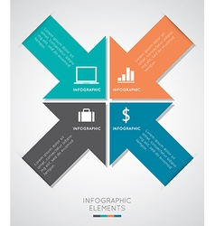 Modern Infographics vector image