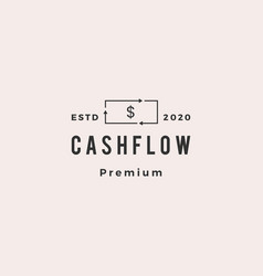money cashflow recycle logo icon retro vintage vector image