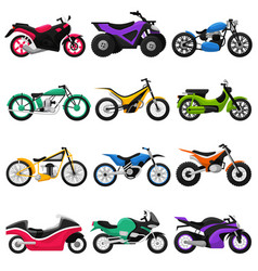 motorcycle motorbike and motoring cycle vector image