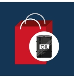 Oil and petroleum industry shopping vector