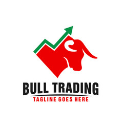 Online trading business logo design vector