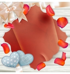 Paper and colorful flowers Petals EPS 10 vector image