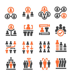 people management icon vector image