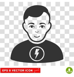 Power Man EPS Icon vector