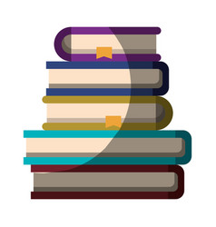 realistic colorful shading image of stack of books vector image