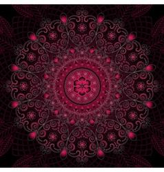 round vintage floral pattern vector image vector image