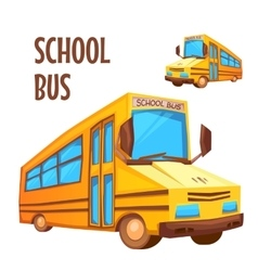 School bus on white vector