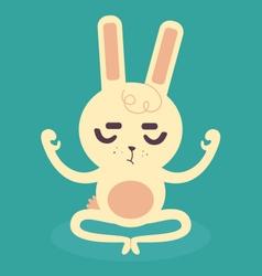 Serene Bunny Meditating vector