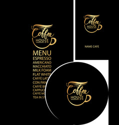 Set of design elements for coffee house vector