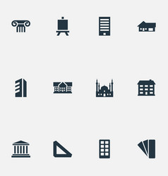 Set simple structure icons vector