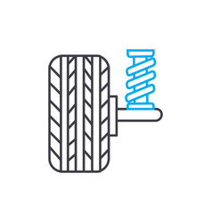 shock absorbers thin line stroke icon vector image