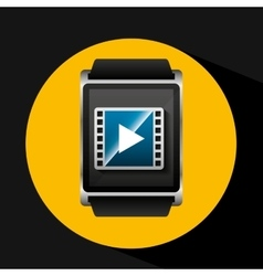 Smart watch concept movie strip social media vector
