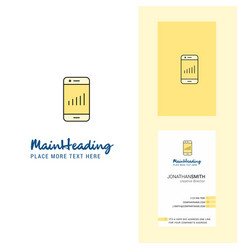 smartphone creative logo and business card vector image