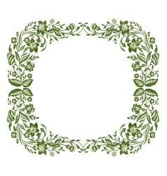 Spring or summer floral frame vector