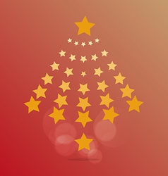 star of Christmas vector image