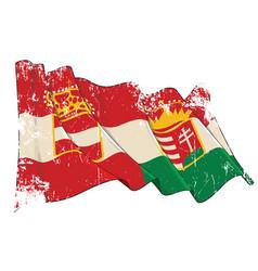 Textured grunge waving flag austria vector