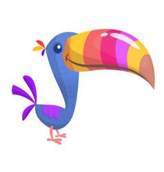 Toucan bird cartoon vector
