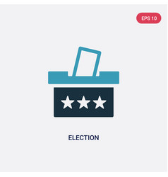 Two color election icon from political concept vector
