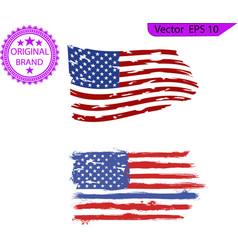 usa flag distressed american flag vector image