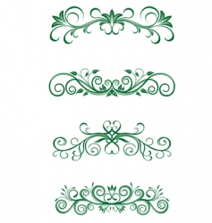 Vintage floral decorations vector