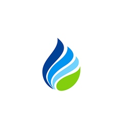 Water drop abstract eco logo vector