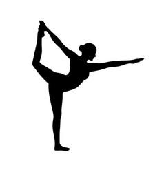 yoga pose dancer natarajasana vector image