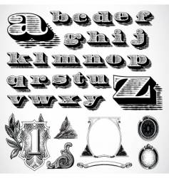 decorative font vector image vector image