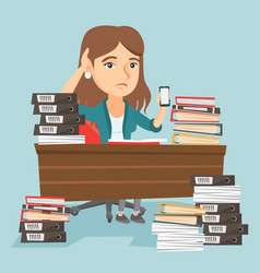 despair caucasian manager working in office vector image vector image