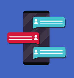 mobile phone messaging flat vector image