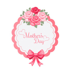 mothers day roses bouquet background image vector image