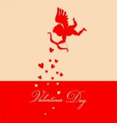retro Valentine's background vector image