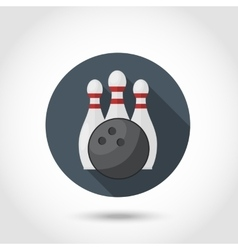 Bowling icon set vector