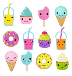 collection of sweets emotion vector image