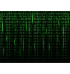 Computer screen binary data code vector image