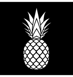 pineapple silhouette icon vector image vector image