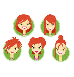 woman avatar part two vector image