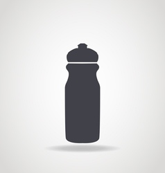 Black icon of water bottle vector image vector image