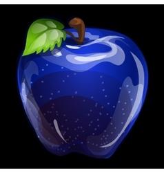 Blue volume apple closeup natural image vector image